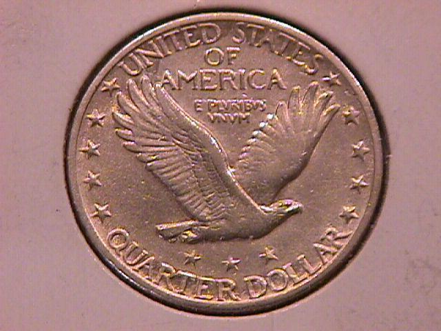 Standing Liberty Silver Quarter 1918-S Extremely Fine Condition