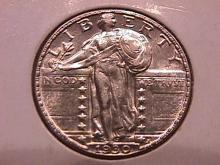 Standing Liberty Silver Quarter  1930  Mint State #63