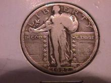 Standing Liberty Silver Quarter  1927-S  Fine Plus Plus Condition