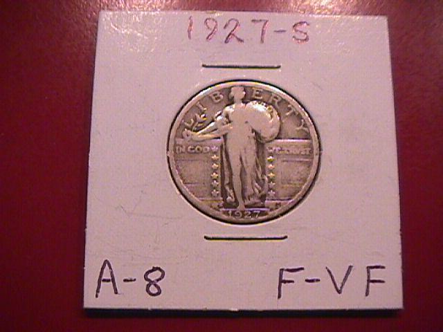 Standing Liberty Silver Quarter  1927-S  Fine Plus Plus Condition