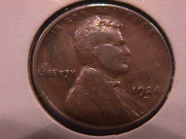 Lincoln Cent 1924-D Very Good Plus Plus Condition