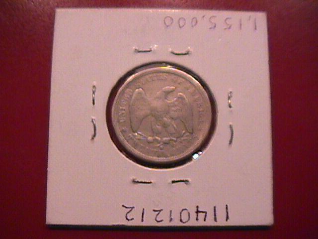 Liberty Seated Silver Twenty Cent Piece 1875-S  Very Fine to Extremely Fine Condition