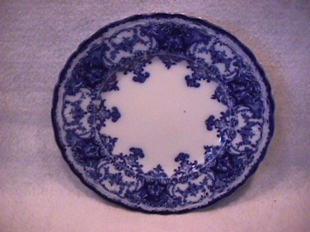 John Maddock and Sons-Flow Blue (Dainty) Cake Plate