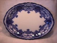 John Maddock and Sons-Flow Blue (Dainty) Ham Platter