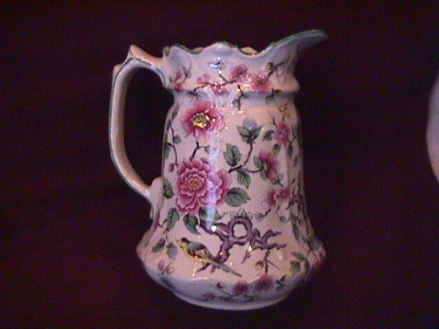 James Kent Ltd., Old Foley (Chinese Rose) Milk Pitcher