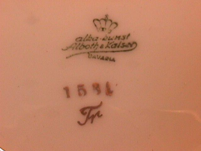 Alboth & Kaiser Fine China (Elegant Rose) #1531 Coaster