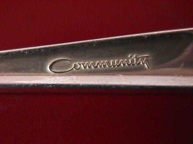 Oneida Community Silverplate (Silver Flowers) Pierced Serving Spoon