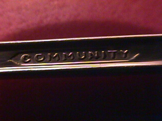 Oneida Community Silverplate EVENING STAR Salad fork
