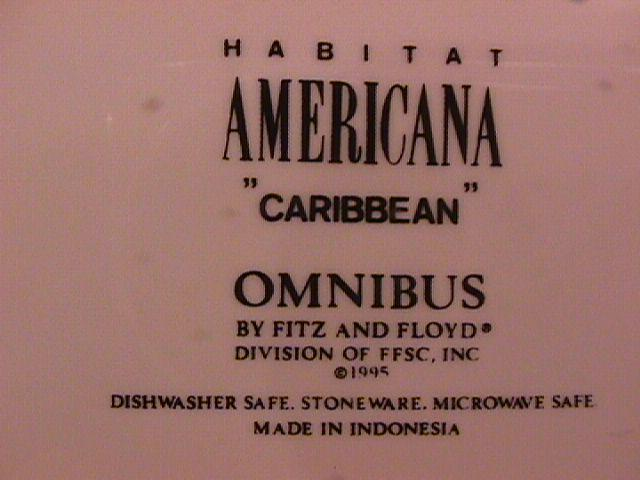 Fitz & Floyd Fine China (Caribbean) Chop Plate
