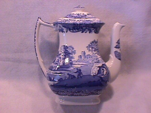 Spode Fine China (Blue Italian) C1816 P Coffee Pot & Lid
