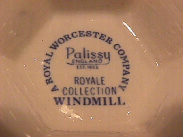 Royal Worcester Palissy (Windmill) Vase