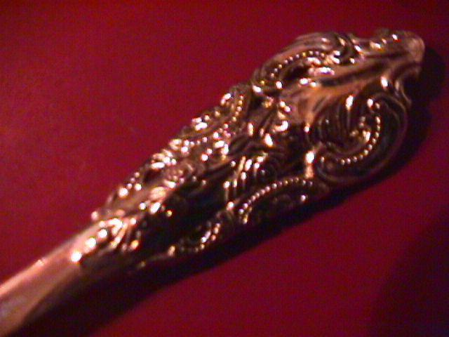 Godinger Silverplate (Baroque) Pierced Serving Spork