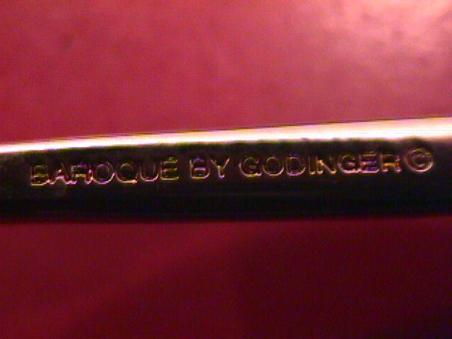 Godinger Silverplate (Baroque) Pierced Serving Spork