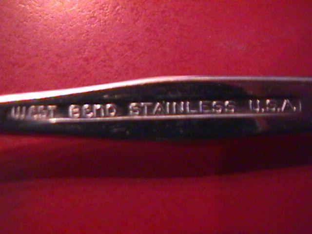 West Bend Stainless (Shadow Weave) 1966 Place Spoon