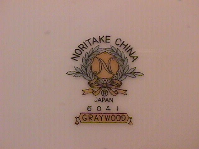 Noritake Fine China (Graywood) #6041 Dinner Plate