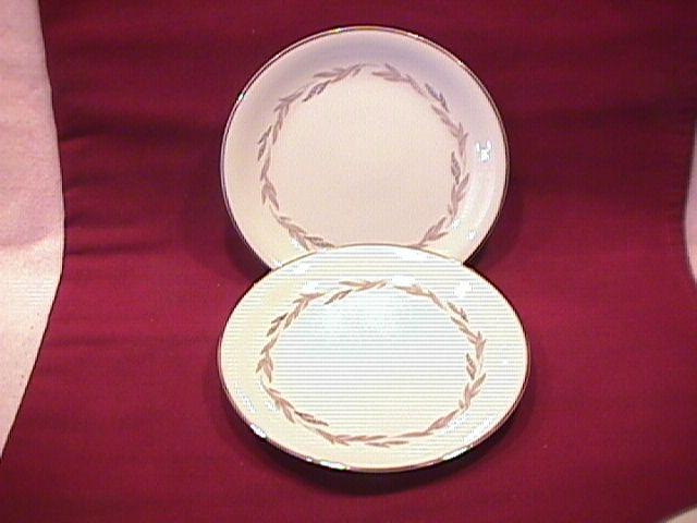 Noritake Fine China (Graywood) #6041  2-Cake Plates