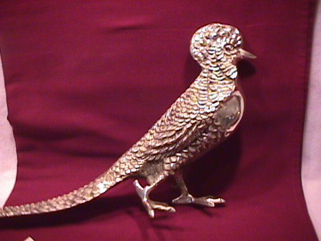 Rare Vintage Large Silverplated (Bird of Paradise) Decoration