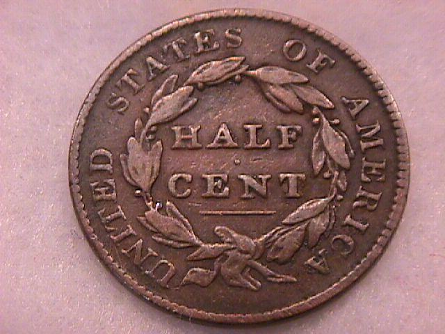 Coin Classic Head Half Cent  1828  Very Fine to Extremely Fine Condition