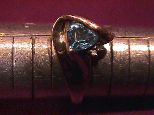 10K Yellow Gold W/Diamond and Swiss Blue Topaz
