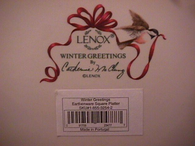 Lenox (Winter Greetings) Square All-Purpose Platter