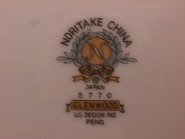 Noritake Fine China (Glenwood) #5770 Dinner Plate