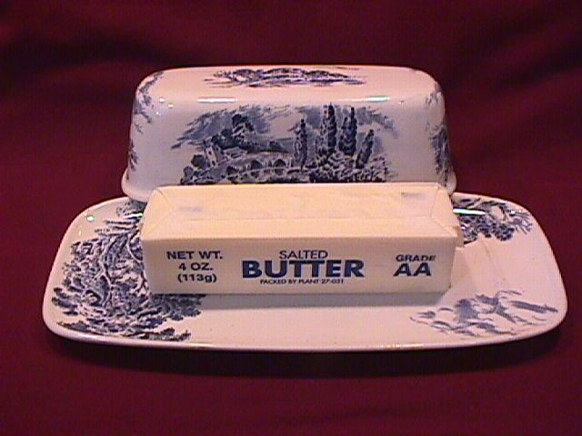 RARE-Wedgwood China (Countryside) Covered Butter Dish
