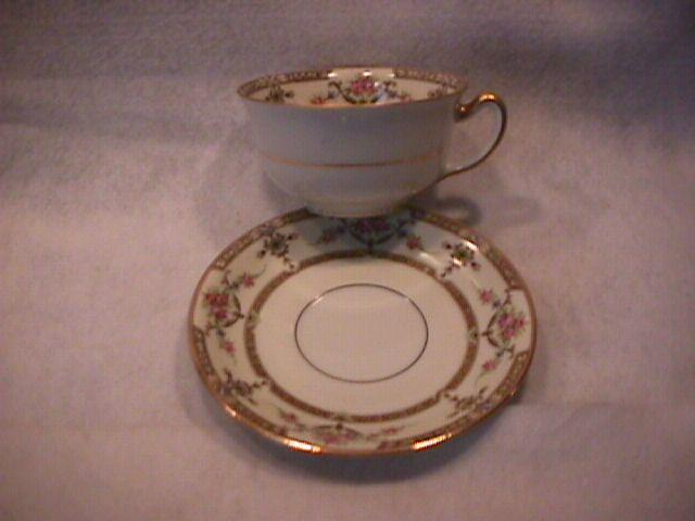 Union Ceramique-Limoges China (Lafayette) Cup & Saucer