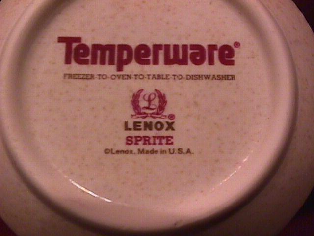 Lenox Temperware (Sprite) Covered Sugar