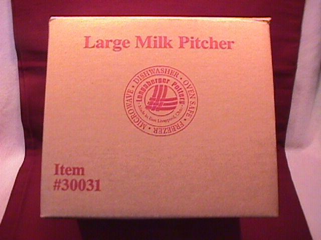 Longaberger (Woven Traditions) Milk Pitcher