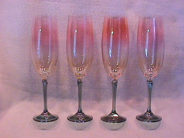 Colony Crystal (Brigitte) 4-Fluted Champagnes