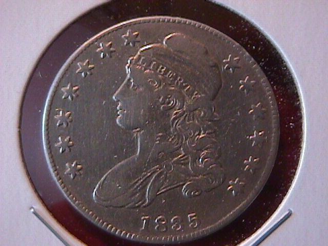 Capped Bust Silver Half Dollar 1835 Very Fine to Extremely Fine Condition