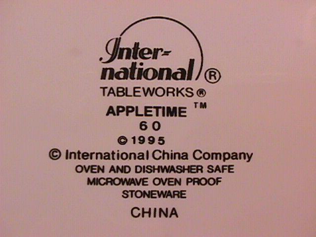 International Tableworks China (Appletime) Salad Plate