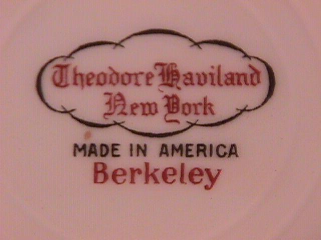 Theodore Haviland (Berkeley) Oval Vegetable