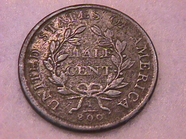 Half Cent Copper Coin Draped Bust-1807 Fine To Very Fine Condition