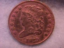 Half Cent Copper Coin Classic Head-1825  Very Fine To Extremely Fine Condition
