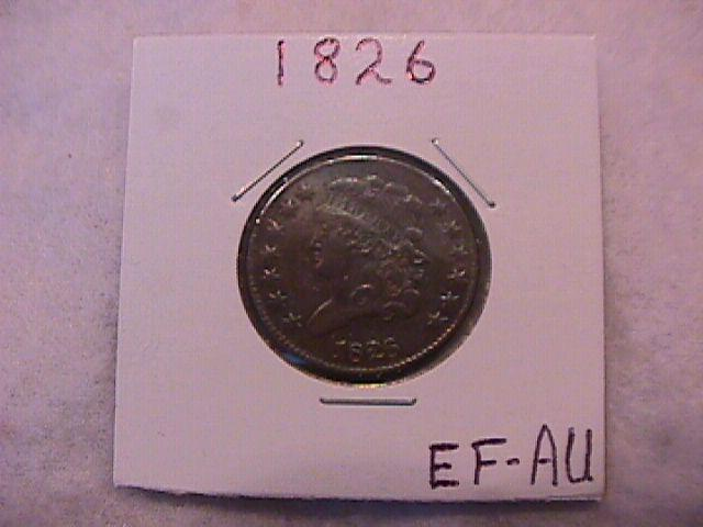 Half Cent Copper Coin Classic Head-1826 Extremely Fine To Almost Uncirculated Condition