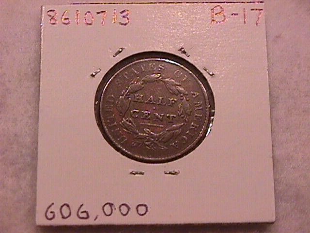 Classic Head Half Cent Coin 1828 Very Fine Plus Condition