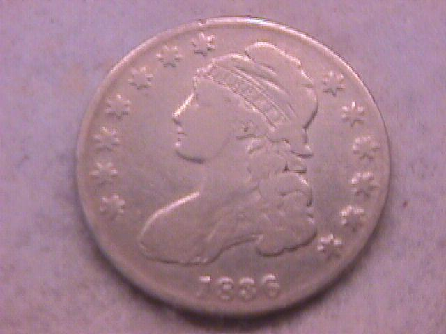 Capped Bust Half Dollar Coin 1836 Fine Plus Condition