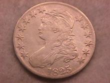Capped Bust Half Dollar Coin 1825 Very Fine Condition