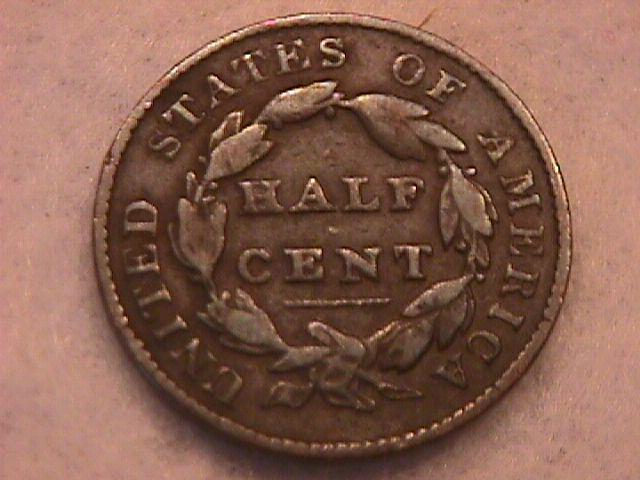 Classic Head Half Cent Coin 1828 Very Fine Plus Condition