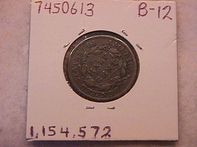 Classic Head Half Cent Coin 1809 Very Fine Plus Details-See Description
