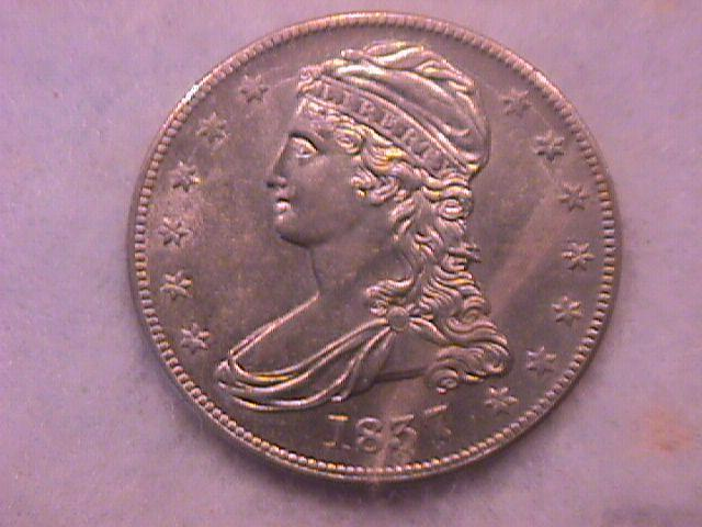 Capped Bust Half Dollar Silver Coin 1837 MS-63