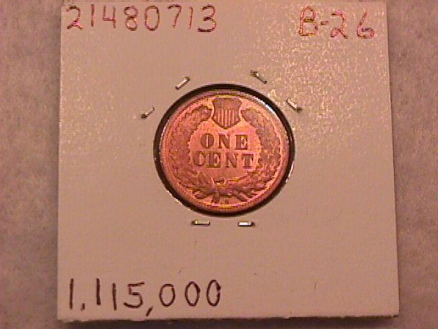 INDIAN HEAD One Cent Copper Coin 1908-S UNCIRCULATED Condition.
