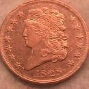 Classic Head Copper Half Cent 1828 13-Star Almost Uncirculated Condition