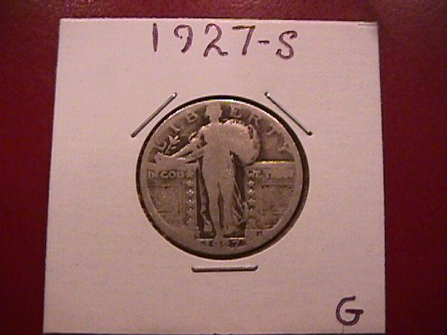 Standing Liberty Silver Quarter 1927-S Good Condition