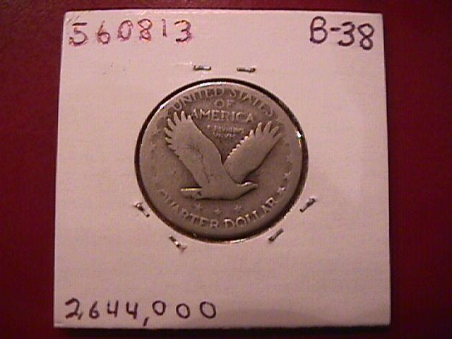 Standing Liberty Silver Quarter 1928-S Good Condition