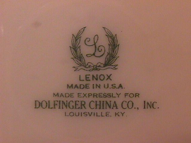 Lenox Fine China (Washington) #S15 F Dinner Plate