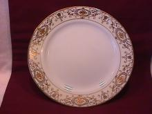 Noritake China-Nippon-(White & Gold) Dinner Plate