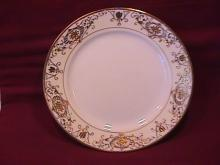 Noritake China-Nippon-(White & Gold) Lunch Plate