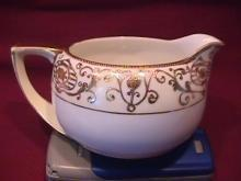 Noritake China-Nippon-(White & Gold) Creamer Style #3